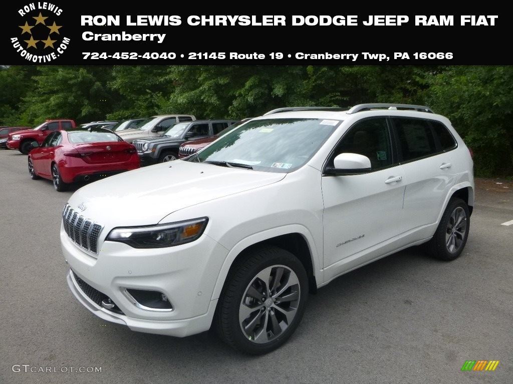 2019 Bright White Jeep Cherokee Overland 4x4 128793036 Gtcarlot Com Car Color Galleries