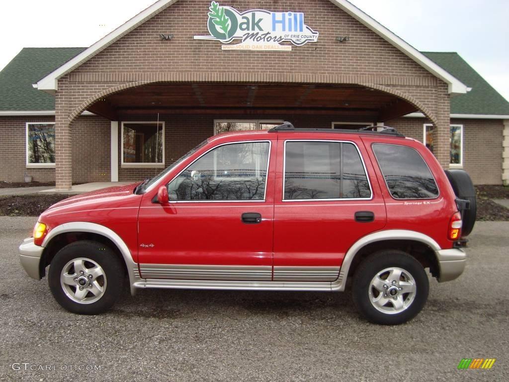 2000 Classic Red Kia Sportage EX 4x4 #12861169 Photo #12