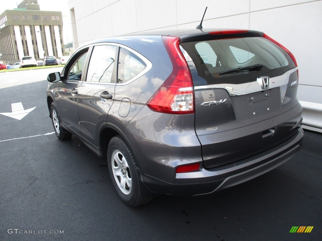 2015 CR-V LX AWD - Modern Steel Metallic / Gray photo #3