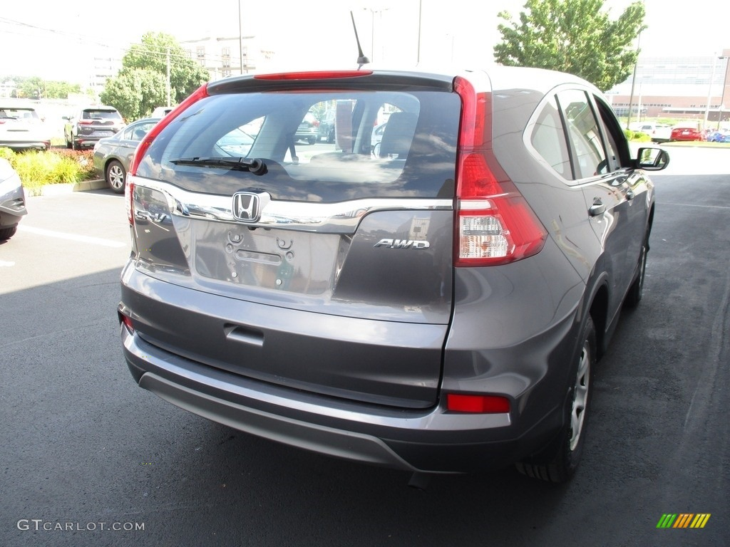 2015 CR-V LX AWD - Modern Steel Metallic / Gray photo #5