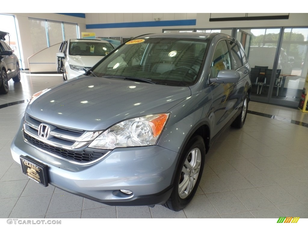 2010 CR-V EX-L AWD - Glacier Blue Metallic / Gray photo #1