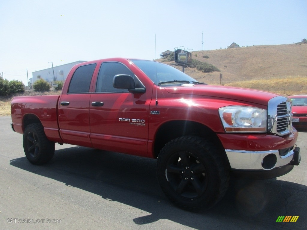 2006 Ram 1500 SLT Quad Cab 4x4 - Flame Red / Medium Slate Gray photo #1