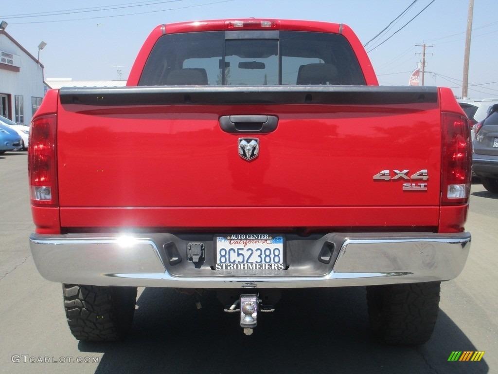 2006 Ram 1500 SLT Quad Cab 4x4 - Flame Red / Medium Slate Gray photo #6