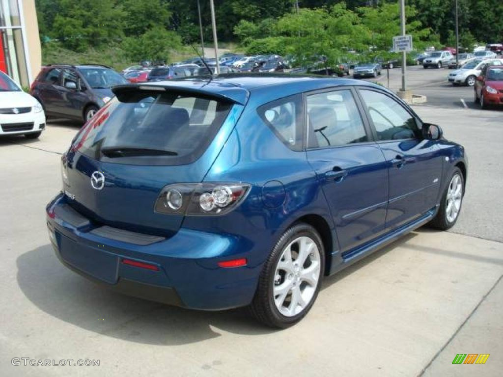 2007 phantom blue mica mazda mazda3 s grand touring hatchback 12853656 photo 2. Black Bedroom Furniture Sets. Home Design Ideas