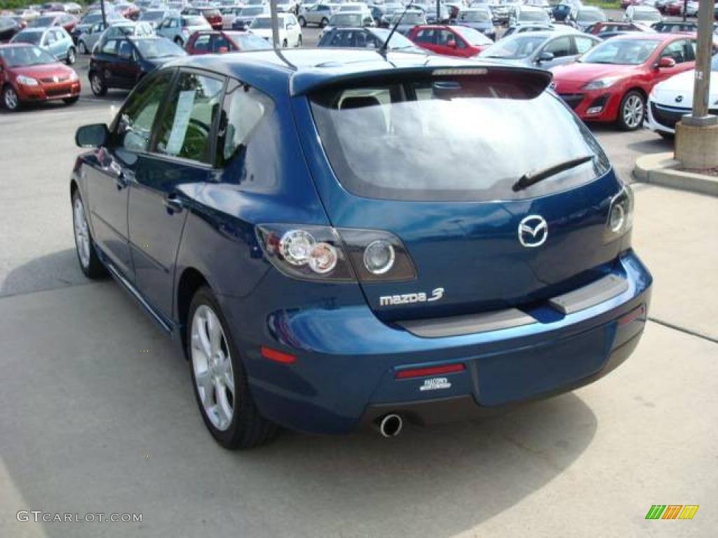 2007 phantom blue mica mazda mazda3 s grand touring hatchback 12853656 photo 4. Black Bedroom Furniture Sets. Home Design Ideas
