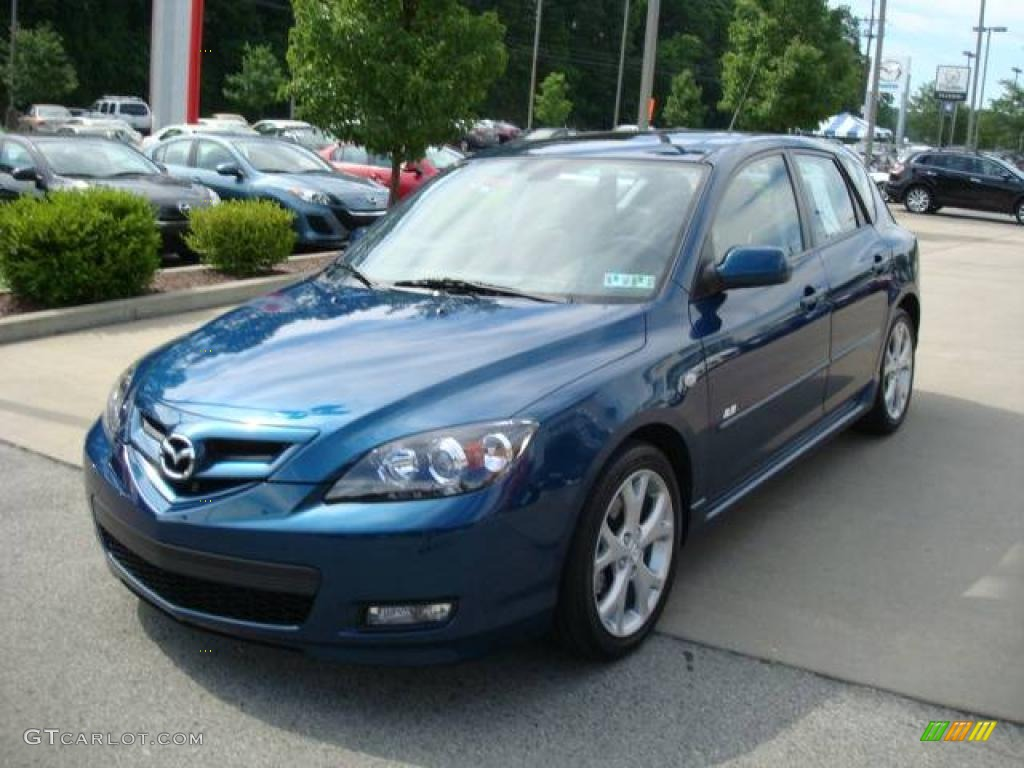 2007 phantom blue mica mazda mazda3 s grand touring hatchback 12853656 photo 5. Black Bedroom Furniture Sets. Home Design Ideas