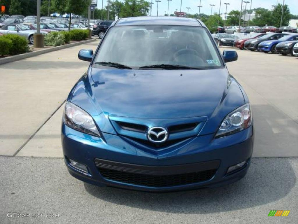2007 phantom blue mica mazda mazda3 s grand touring hatchback 12853656 photo 6. Black Bedroom Furniture Sets. Home Design Ideas