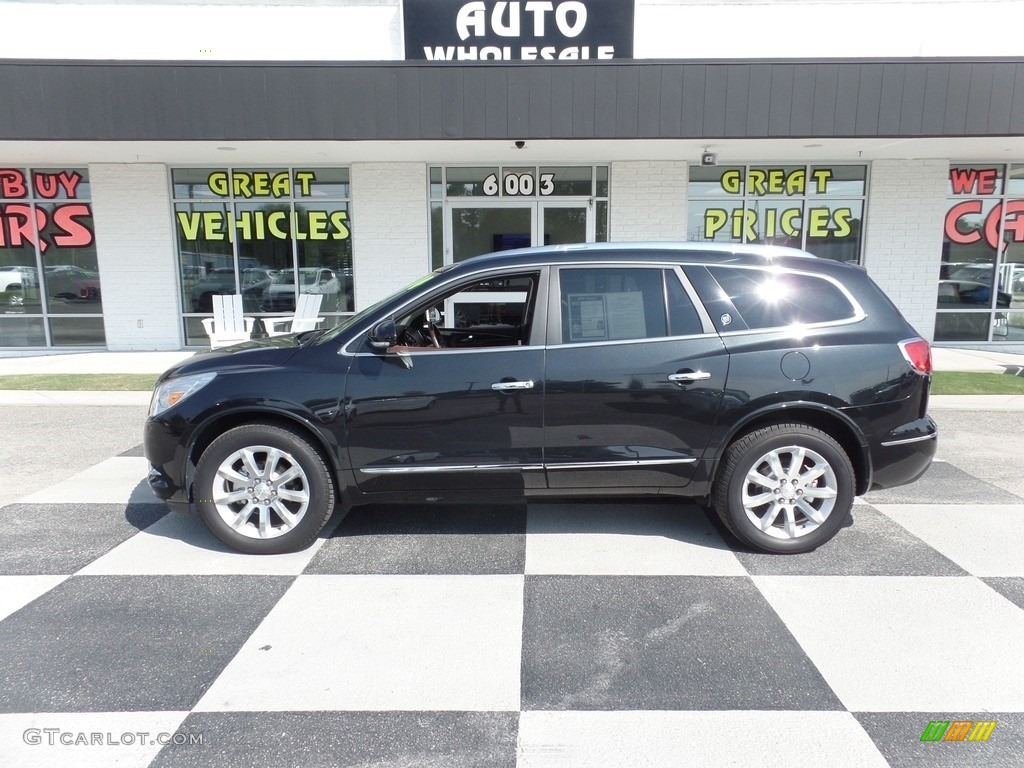 2014 Enclave Premium - Carbon Black Metallic / Cocoa photo #1