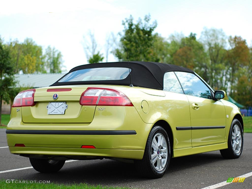 2006 lime yellow saab 9 3 2 0t convertible 12861933 photo. Black Bedroom Furniture Sets. Home Design Ideas