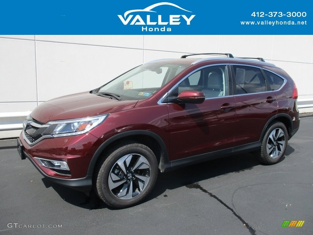 2015 CR-V Touring - Basque Red Pearl II / Gray photo #1