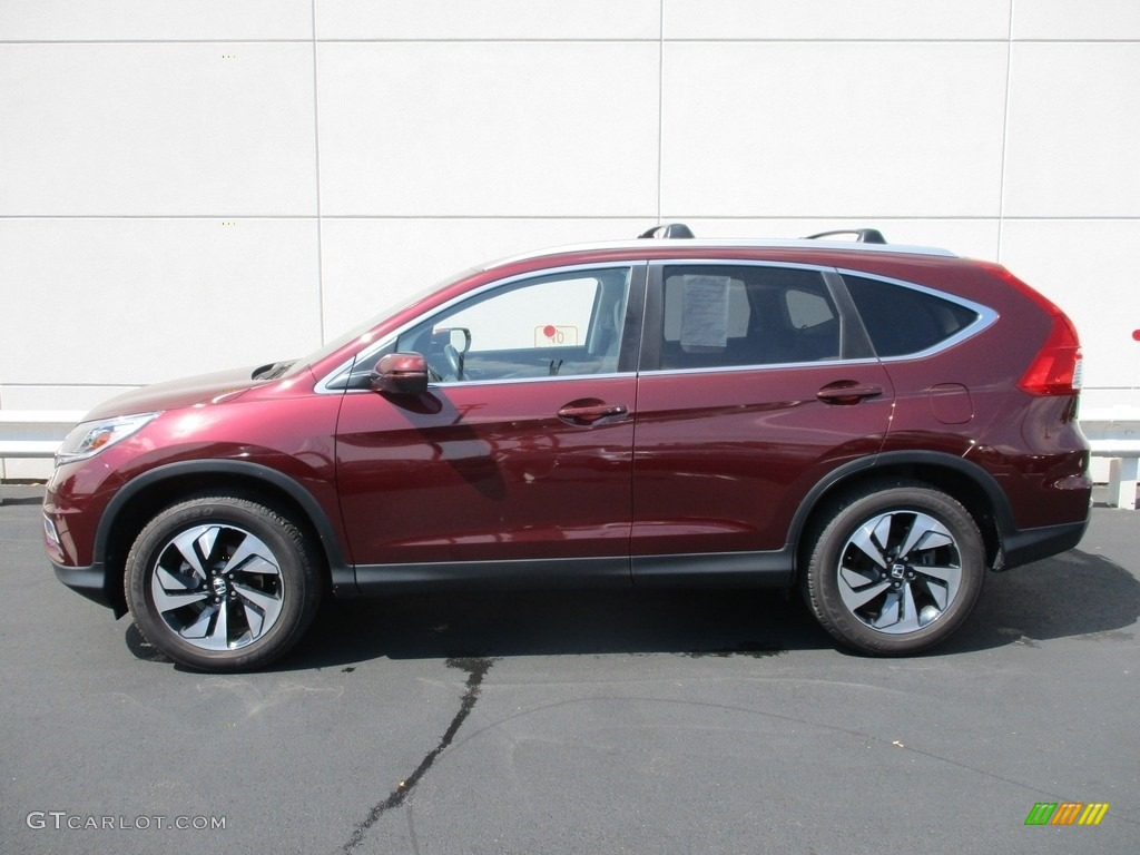 2015 CR-V Touring - Basque Red Pearl II / Gray photo #2