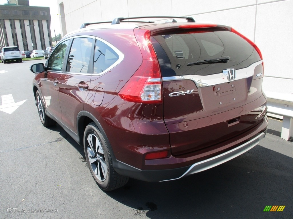2015 CR-V Touring - Basque Red Pearl II / Gray photo #3
