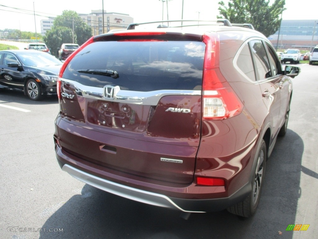 2015 CR-V Touring - Basque Red Pearl II / Gray photo #5