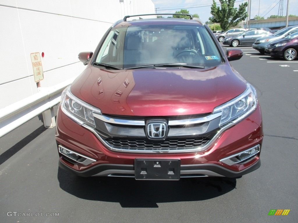 2015 CR-V Touring - Basque Red Pearl II / Gray photo #8