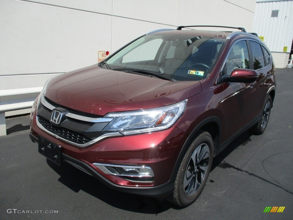 2015 CR-V Touring - Basque Red Pearl II / Gray photo #9