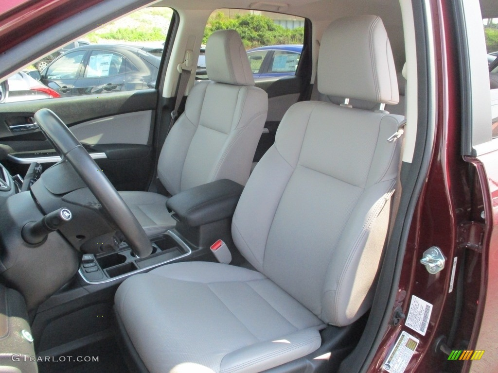 2015 CR-V Touring - Basque Red Pearl II / Gray photo #12