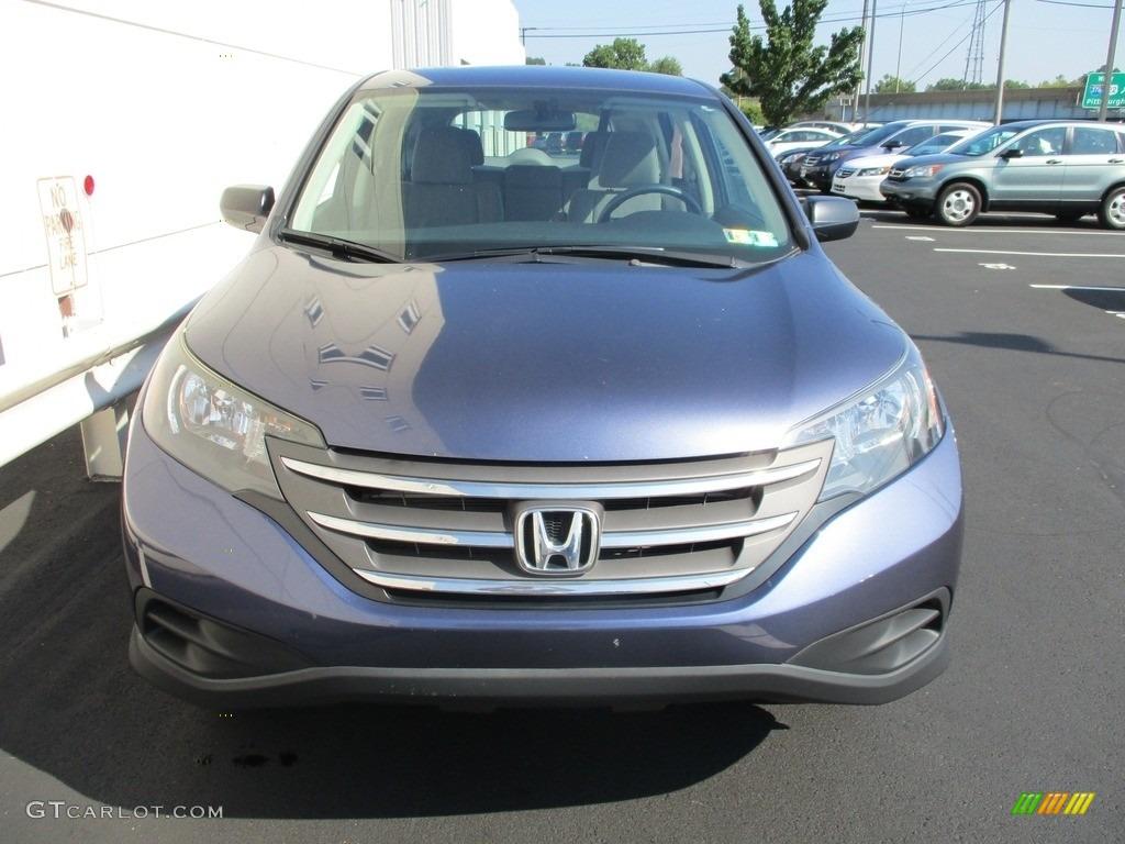 2014 CR-V LX AWD - Twilight Blue Metallic / Gray photo #8
