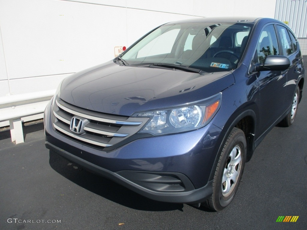 2014 CR-V LX AWD - Twilight Blue Metallic / Gray photo #9