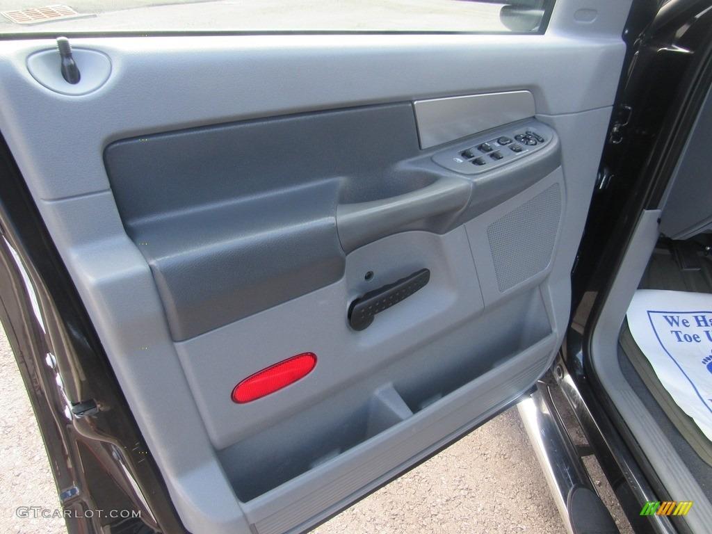 2008 Ram 1500 SLT Quad Cab - Brilliant Black Crystal Pearl / Medium Slate Gray photo #14