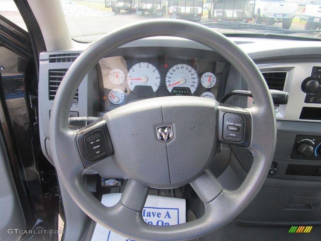 2008 Ram 1500 SLT Quad Cab - Brilliant Black Crystal Pearl / Medium Slate Gray photo #17