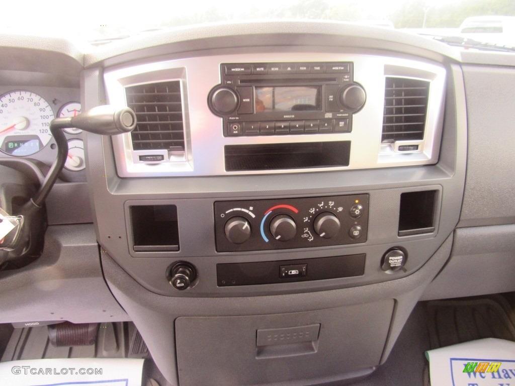 2008 Ram 1500 SLT Quad Cab - Brilliant Black Crystal Pearl / Medium Slate Gray photo #19