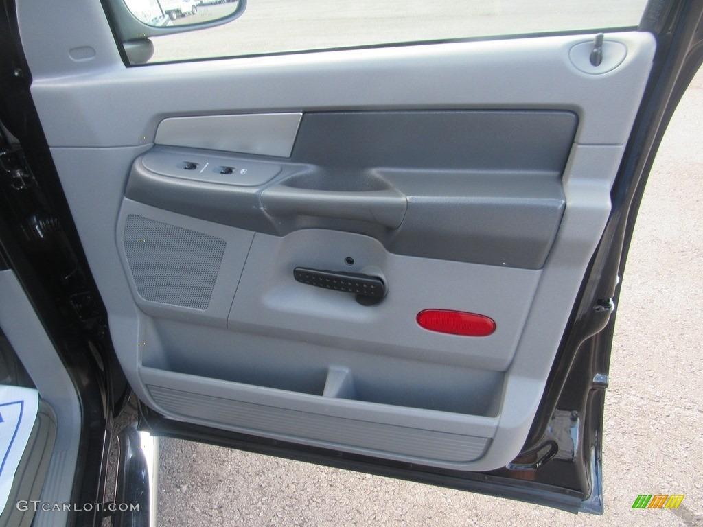 2008 Ram 1500 SLT Quad Cab - Brilliant Black Crystal Pearl / Medium Slate Gray photo #30
