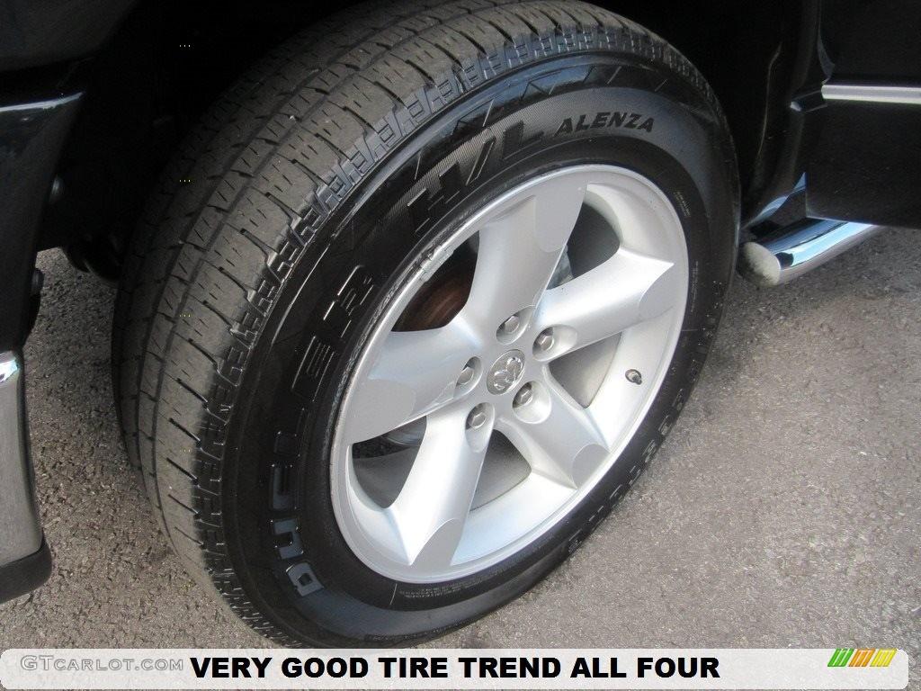 2008 Ram 1500 SLT Quad Cab - Brilliant Black Crystal Pearl / Medium Slate Gray photo #42
