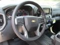 Jet Black Steering Wheel Photo for 2019 Chevrolet Silverado 1500 #129103872