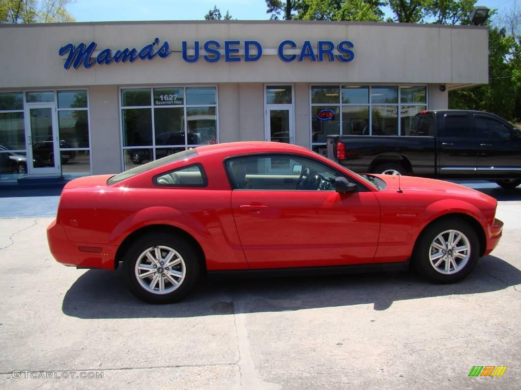 2007 Mustang V6 Deluxe Coupe - Torch Red / Medium Parchment photo #1