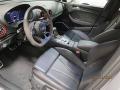 2018 RS 3 quattro Sedan Black/Crescendo Red Interior