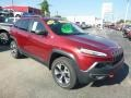 Deep Cherry Red Crystal Pearl - Cherokee Trailhawk 4x4 Photo No. 7