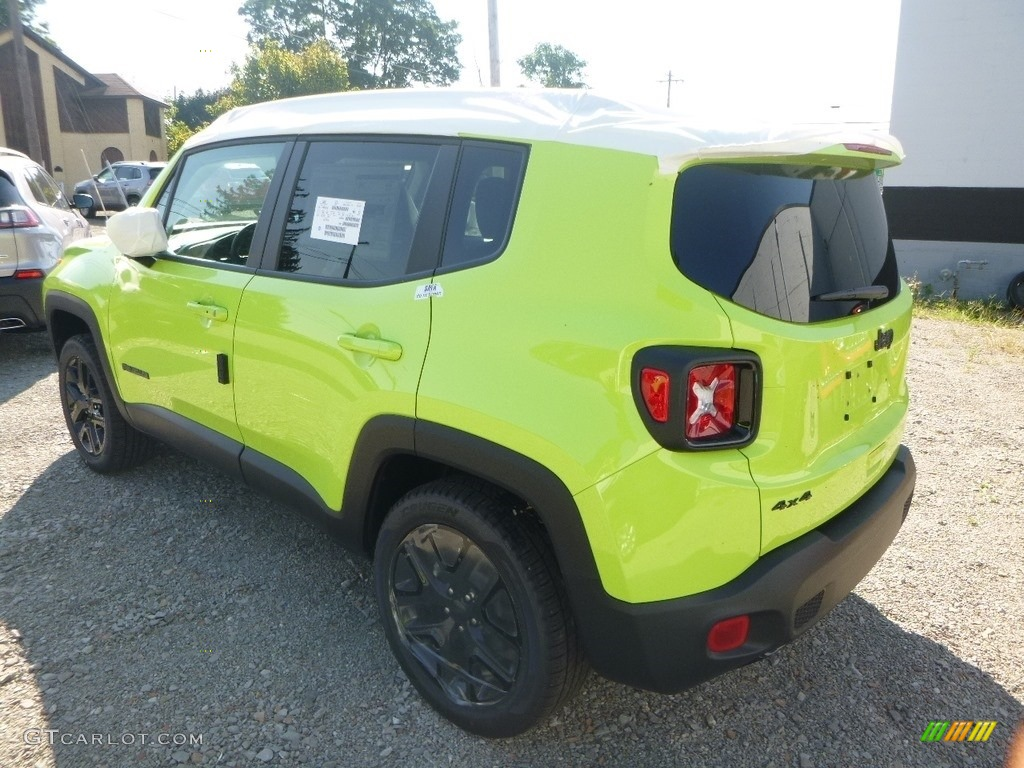 2018 Renegade Latitude 4x4 - Hypergreen / Black photo #4