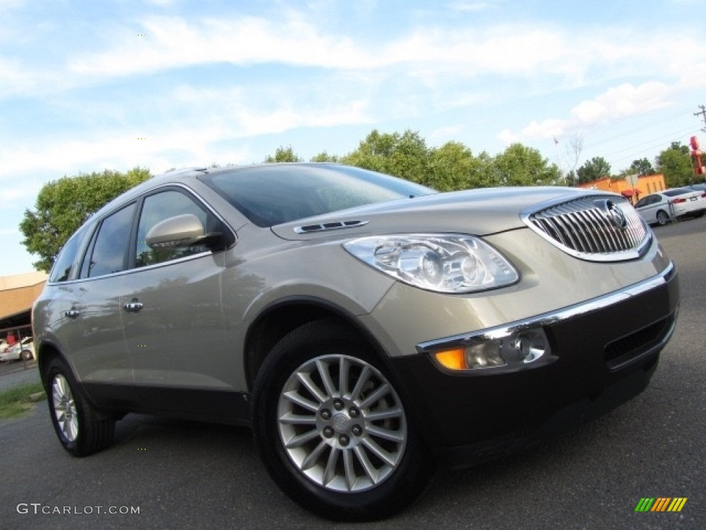 2010 Enclave CXL - Gold Mist Metallic / Cashmere/Cocoa photo #2