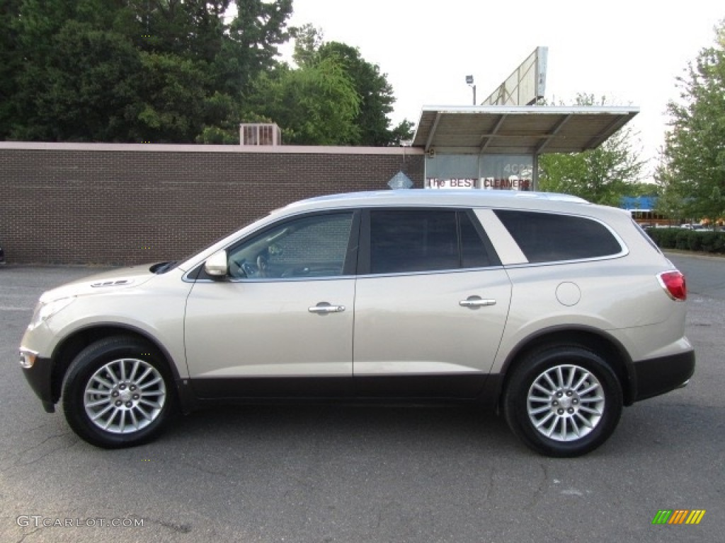 2010 Enclave CXL - Gold Mist Metallic / Cashmere/Cocoa photo #7