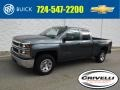 2014 Blue Granite Metallic Chevrolet Silverado 1500 WT Double Cab 4x4 #129230504