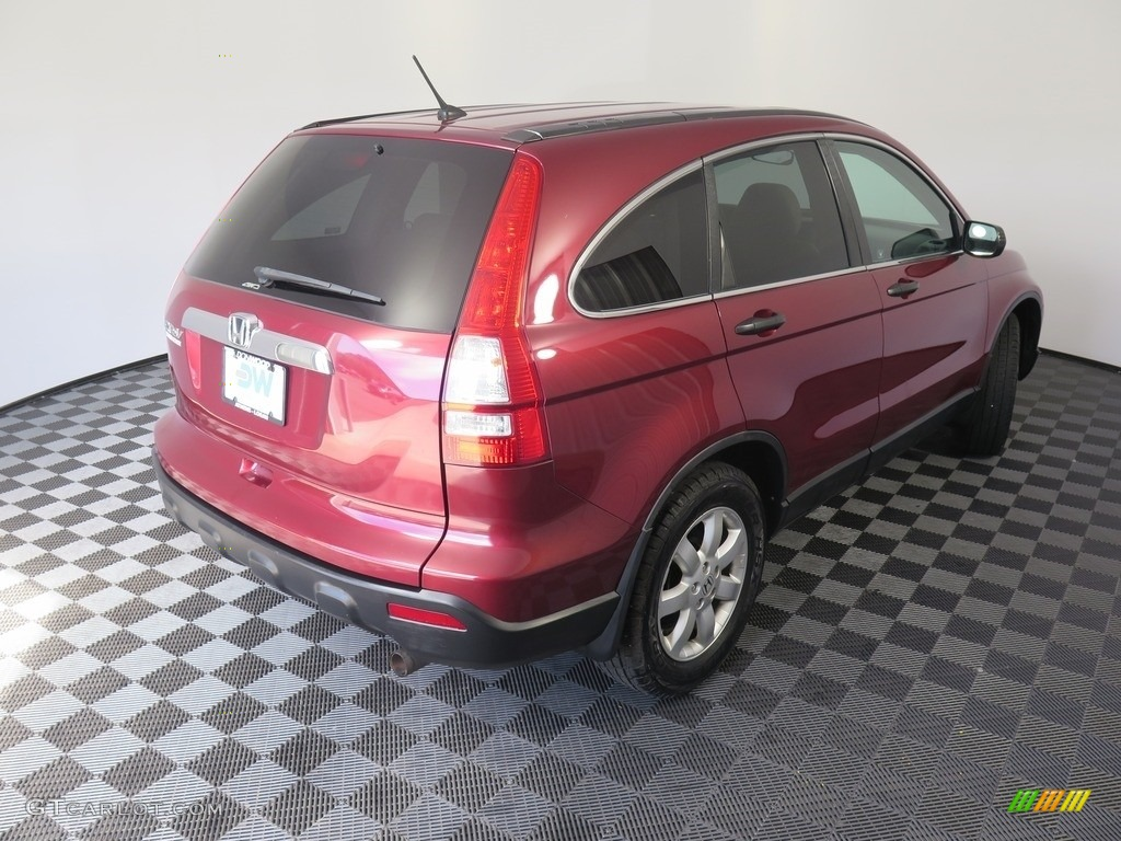 2008 CR-V EX 4WD - Tango Red Pearl / Black photo #9