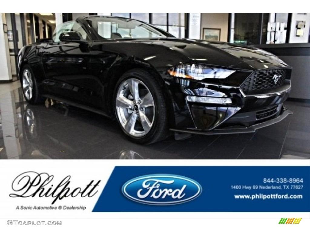 2019 Mustang EcoBoost Premium Convertible - Shadow Black / Ebony photo #1