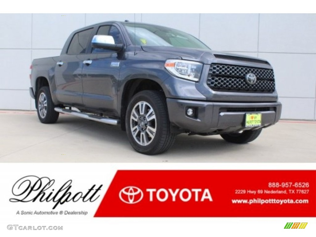 2019 Tundra Platinum CrewMax 4x4 - Magnetic Gray Metallic / Black photo #1