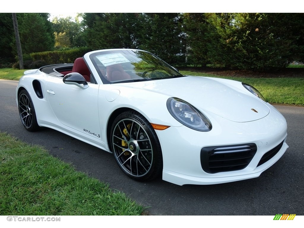 2019 White Porsche 911 Turbo S Cabriolet 129334328 Gtcarlot Com Car Color Galleries