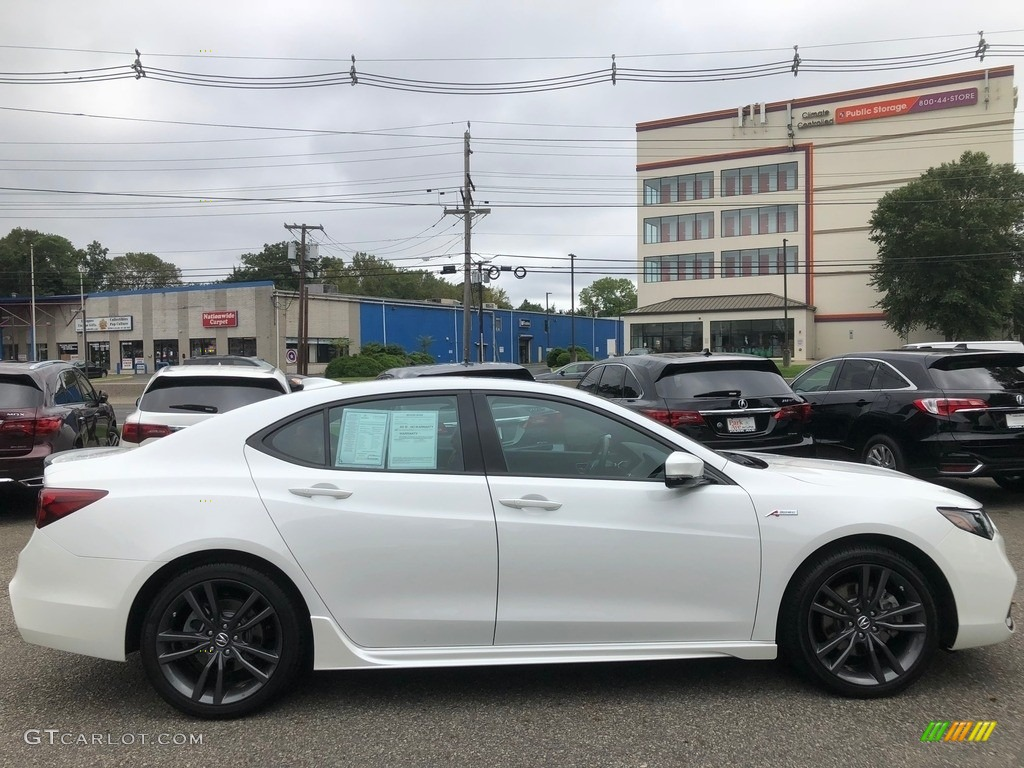 Bellanova White Pearl 2018 Acura TLX V6 A-Spec Sedan Exterior Photo #129358322