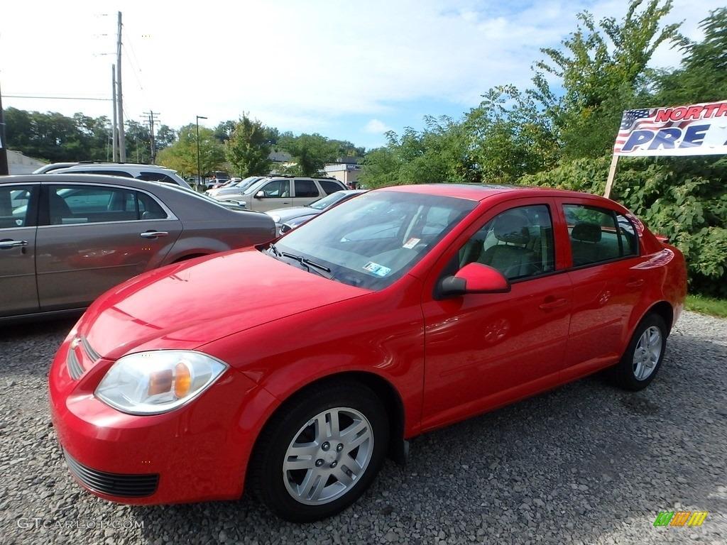 2005 Cobalt LS Sedan - Victory Red / Gray photo #1