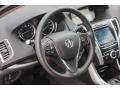 Ebony 2018 Acura TLX V6 SH-AWD Technology Sedan Steering Wheel