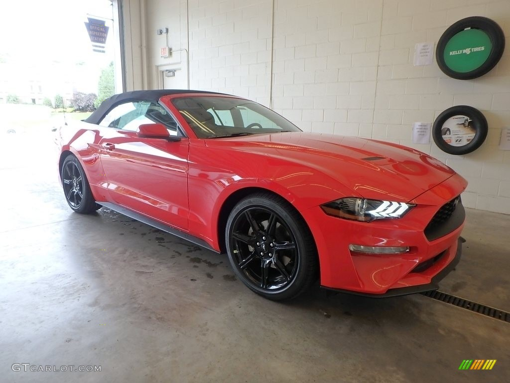 2019 Mustang EcoBoost Convertible - Race Red / Ebony photo #1