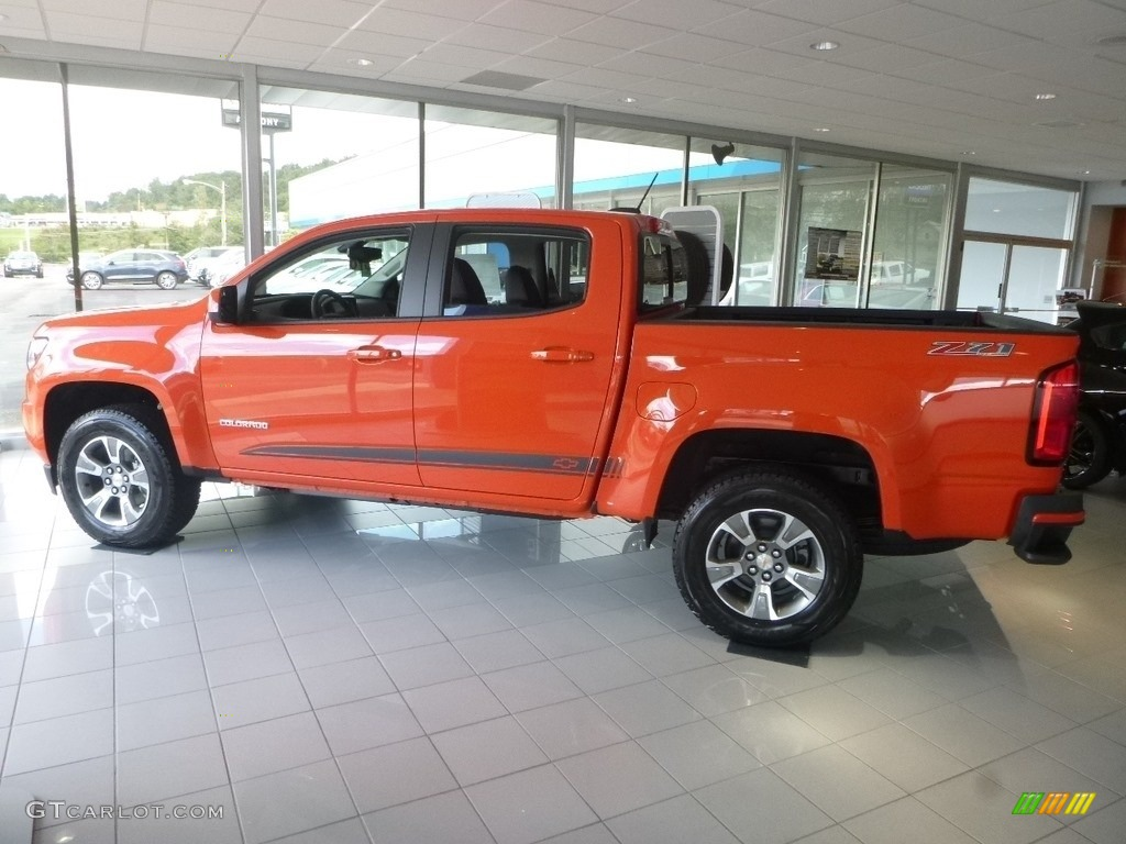 2019 Crush Orange Chevrolet Colorado Z71 Crew Cab 4x4 129439603