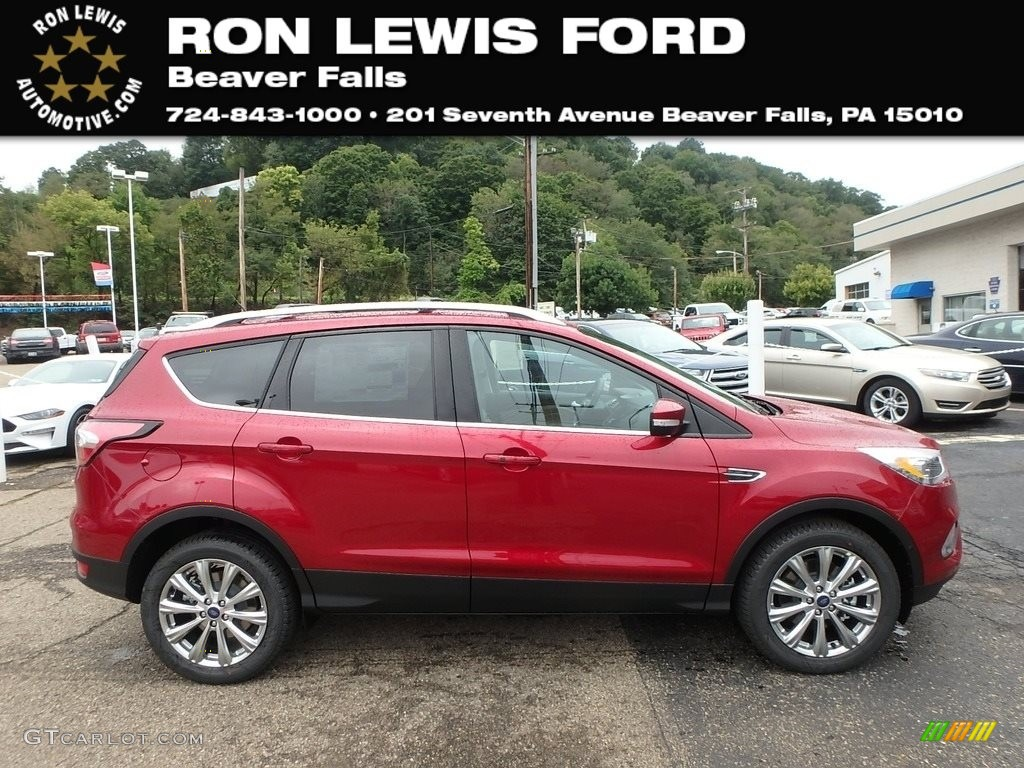 49bf459588cd 2018 Escape Titanium 4WD - Ruby Red   Charcoal Black photo  1