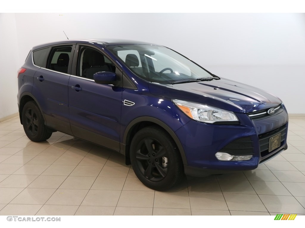 2014 Escape SE 1.6L EcoBoost - Deep Impact Blue / Charcoal Black photo #1