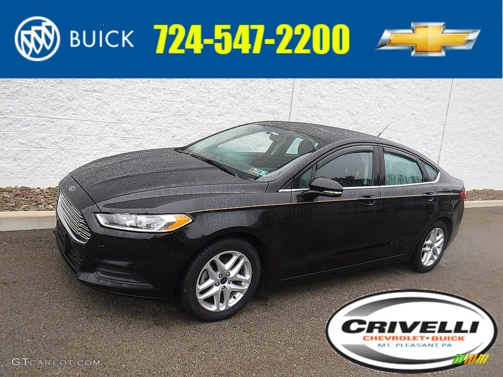2015 Fusion SE - Tuxedo Black Metallic / Charcoal Black photo #1