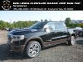 Diamond Black Crystal Pearl 2019 Ram 1500 Long Horn Crew Cab 4x4
