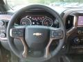 Jet Black Steering Wheel Photo for 2019 Chevrolet Silverado 1500 #129483965
