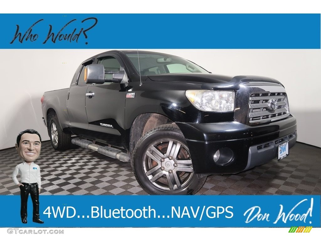 2007 Tundra Limited Double Cab 4x4 - Black / Graphite Gray photo #1